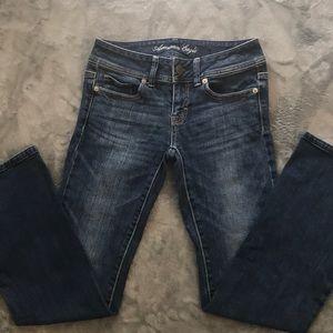 Size 0 Zero American Eagle Jeans Dark Wash Stretch